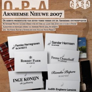 Exhibition and presentation at Arnhemse Nieuwe, an exhibition of the best graduates of the Arnhem Academy of Arts 2007