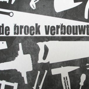 Poster announcing the complete renovation of the Grote Broek in Nijmegen.