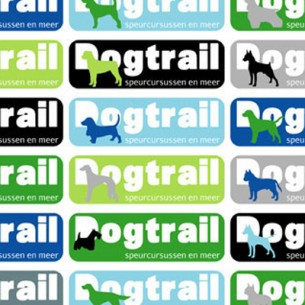 A logo can be a lot more than just a static image of a swoosh... For Dogtrail, a small company that organizes tracking courses for dogs and their owners, I designed a logo toolbox consisting of a truetype font. This font lets you choose from different logo designs combined with 25 different silhouettes of dogs, and a cat.