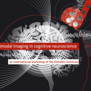 Poster and flyer for the Multimodal Imaging in cognitive neuroscience conference, held at the Radboud University of Nijmegen.