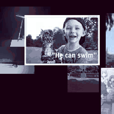 Nine times a day, this online application pulls an array of photographs out of twitter messages and creates a randomly styled image out of them. These small, pixelated images are then displayed in an ever growing collection website.
