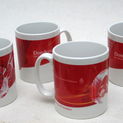 A series of coffee mugs for the Donders Institute.