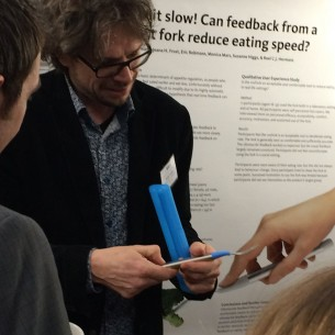 In 2016, we presented our research on vibrotactile feedback to reduce eating rate at three conferences