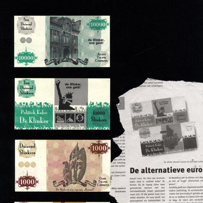 At the introduction of the euro in 2002, the Grote Broek in Nijmegen introducted its own currency, called the Slinker - referring to its ever diminishing value.